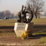 Pomnik Psa Dżoka w Krakowie, znajdujący się niedaleko Wawelu.