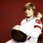 Zdjęcie przedstawia Martę Makowską w stroju sportowym.