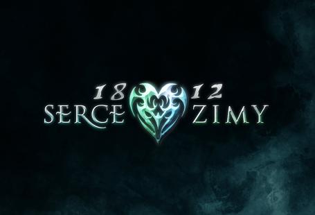 Obrazek przedstawia logotyp gry Serce Zimy. Widoczny jest napis 1812 Serce Zimy, a na środku serce.