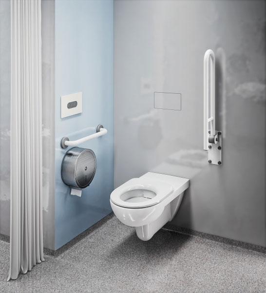 Koło Geberit Group toaleta przystosowana do potrzeb niepełnosprawnych