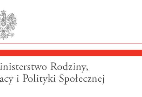 Logo ministerstwa rodziny, pracy i polityki społecznej