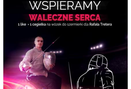 Obrazem przedstawia Rafała tretera oraz napis Wspieramy waleczne serca. Jest to obrazek akcji na fejsbuku.