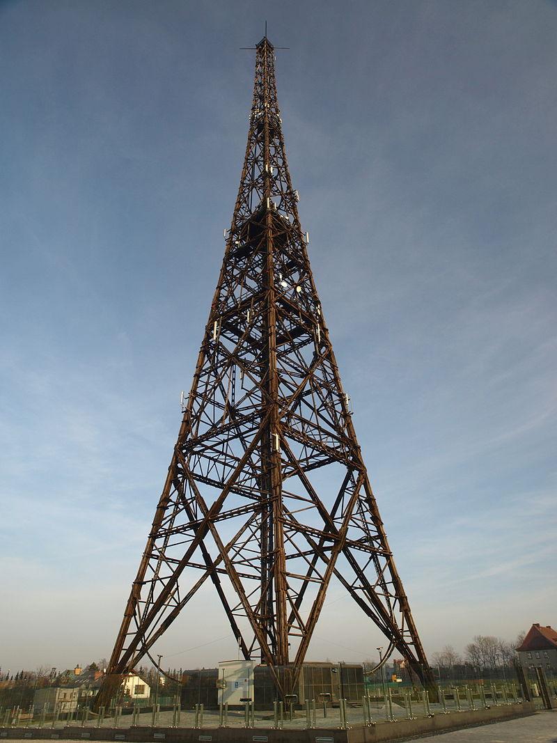 Wieża radiostacji w lutym 2011 roku