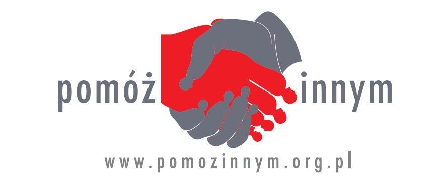 Logo fundacji przedstawiające uścisk dłoni
