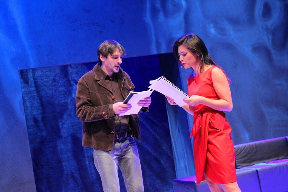 zdjęcie z premiery Teatru dla niewidomych i słabo widzących