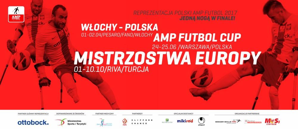 plakat mistrzostw europy Amp Futbol Reprezentacja Polski 2017