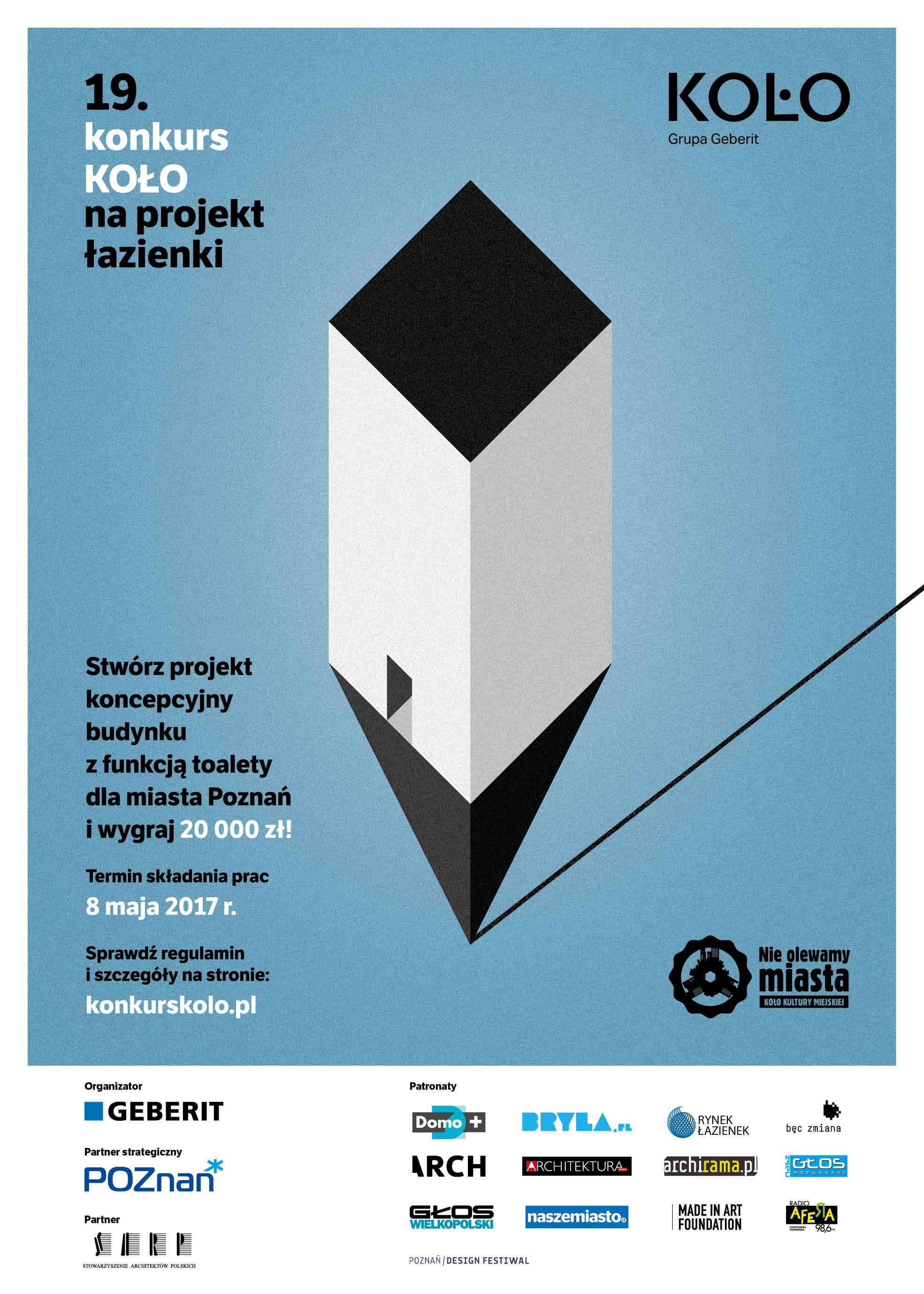 plakat na konkurs z logami organizatorów i partnerów