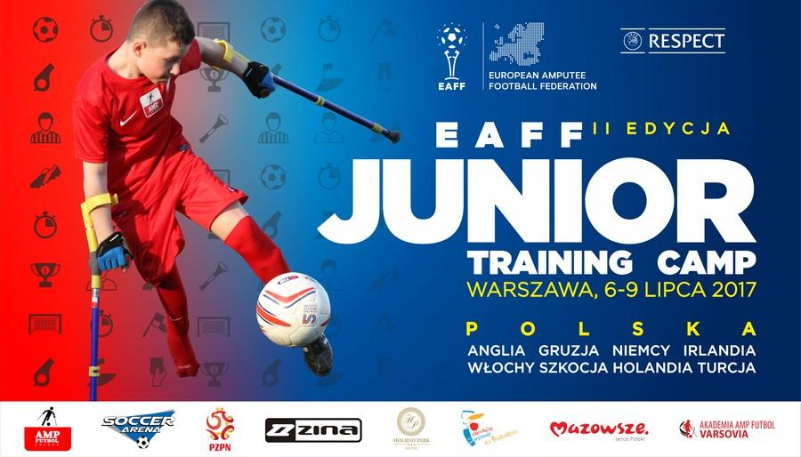 plakat promujący futbol juniorów po amputacjach