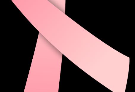 Obrazek przedstawia różowa wstążkę, czyli symbol walki z rakiem piersi