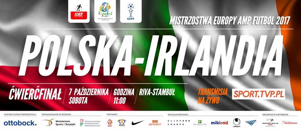 plakat promujący mecz polska irlandia