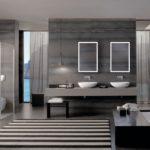 prosta łazienka CITTERIO w odcieniach szarości oraz ziemi