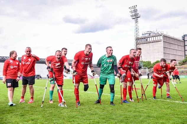zdjęcie z pierwszego tegorocznego turnieju z udziałem reprezentacji Polski Amp Futbol.