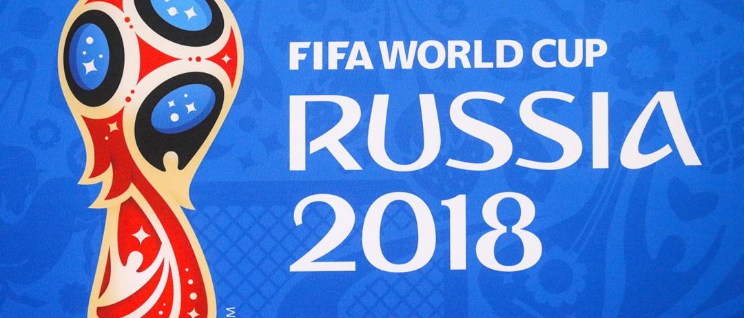 plakat mistrzostw świata w piłce nożnej 2018 w Rosji