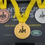 Złoty, srebrny i brązowy medal, z jednej z dyscyplin na Invictus Games in 2014. The first ever Invictus Games z Londynu 2014
