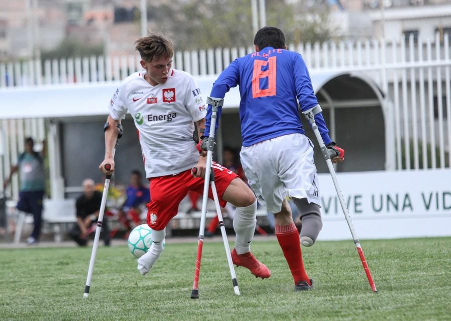 Krystian Kapłon w trakcie meczu Polska Kolumbia 1-0 fot. Bartłomiej Budny