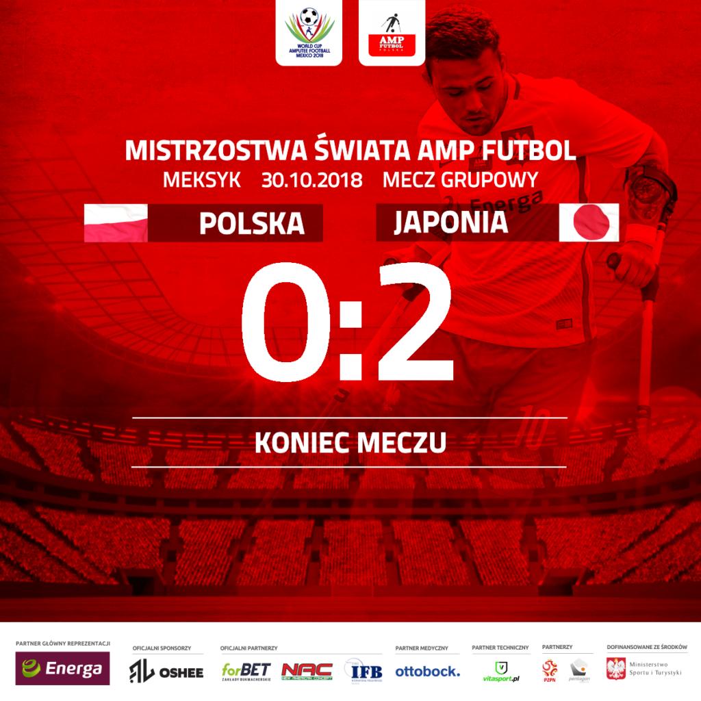 Plakat informujący o wyniku 0:2