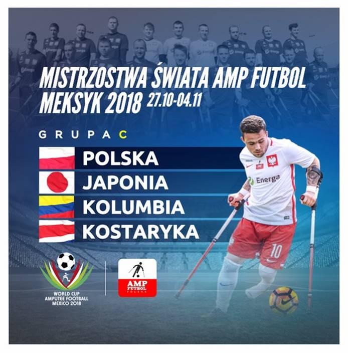 plakat promujący Mistrzostwa Świata AMP futbol Meksyk 2018