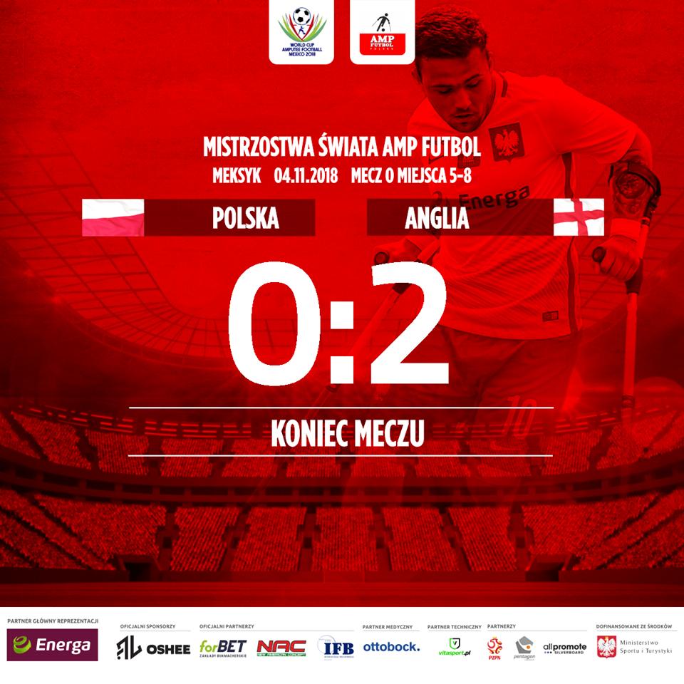 plakat informujący o wyniku w meczu Polska-Anglia zero do dwóch