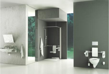 projekt łazienki dla niepełnosprawnych Geberit