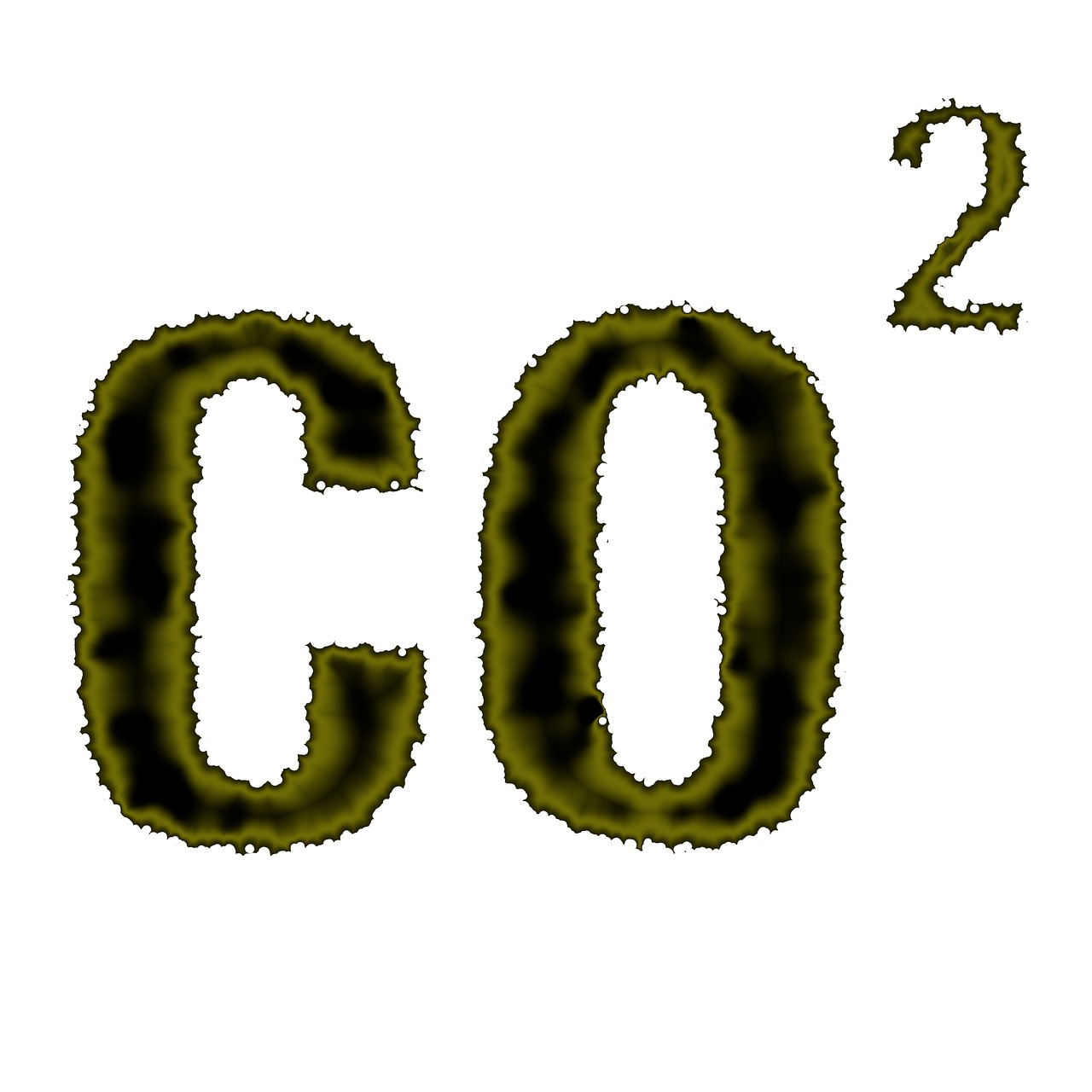 obrazek przedstawia zielony napis C O 2 na białym tle, czyli dwutlenek węgla