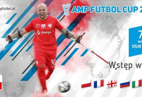 Plakat promujący AMP futbol cip 2019