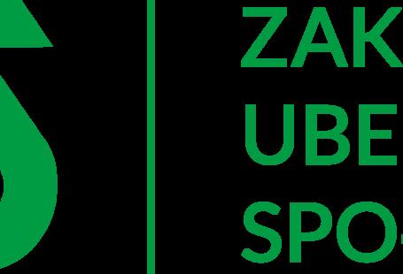 logo ZUS-u czyli zielony napis ZUS, oraz z prawej strony jego pełna nazwa - zakład ubezpieczeń społecznych, które przedziela zielona kreska